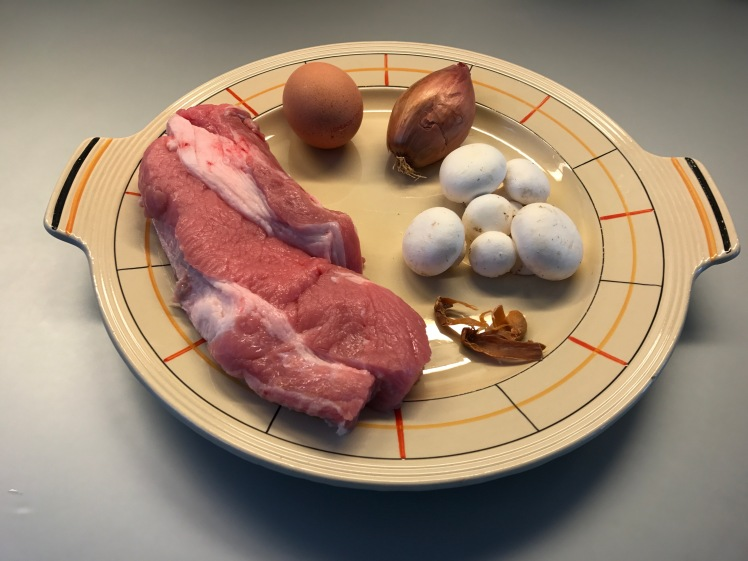 main ingredients of blanquettte de veau or classic french stew