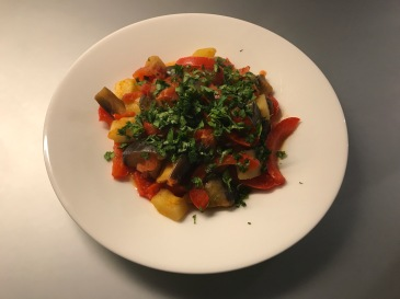 ratatouille ready to serve and eat