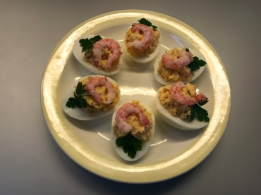 stuffed eggs with shrimp