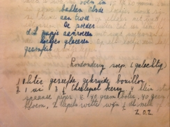 My mother's recipe for Londonderry soup © cadwu