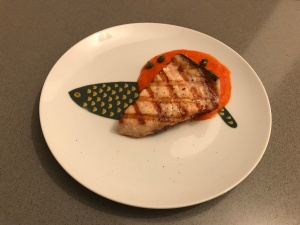 Grilled Swordfish with a Spicy Tomato Sauce © cadwu