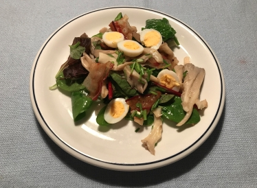 Salad with Oyster Mushrooms and Pancetta © cadwu
