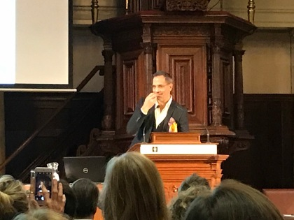 Yotam Ottolenghi thanking the jury for the Johannes van Dam Prize