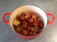 Chestnuts ready to be cooked for the second time © cadwu