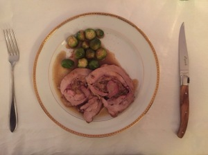 Roulade of Turkey with Brussels sprouts and Madeira sauce © cadwu