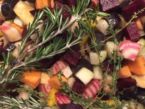 Seasonal Vegetables with Thyme and Rosemary © cadwu
