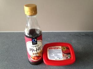 Korean Fish Sauce and Red Chili Paste © cadwu
