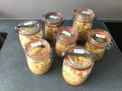 Seven Jars of home made Kimchi © cadwu