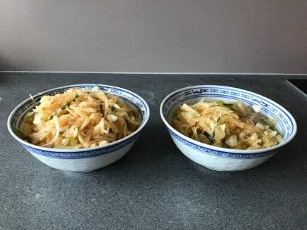 Two Batches of home made Kimchi © cadwu