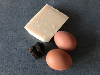 Black Truffle, Egg and Parmesan Cheese © cadwu