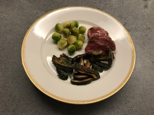 Bay Boletes with Brussels Sprouts and Beef © cadwu