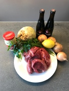 Ingredients of Classic Stew A La Flamande © cadwu