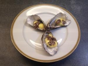 Antonio Carluccio's Oysters with Zablagione and White Truffle © cadwu