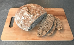 No Knead Bread with Poppy Seeds and Lineseed © cadwu