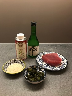 Ingredients of Tuna with Sesame Seeds and Pickled Cucumber © cadwu