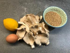 Ingredients of Fried Oyster Mushrooms © cadwu