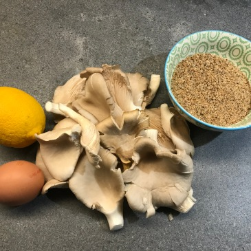 Ingredients of Fried Oyster Mushrooms © cadwu