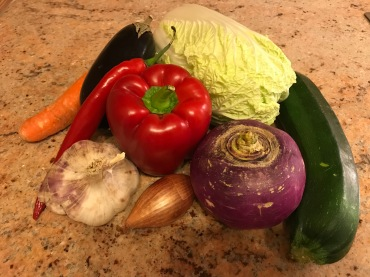 some ingredients of couscous with vegetables © cadwu