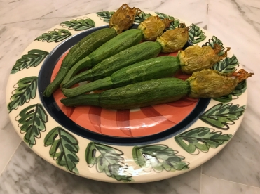 Stuffed Courgette or Zucchini Flowers © cadwu