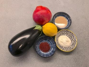 Ingredients of Baba Ganoush © cadwu