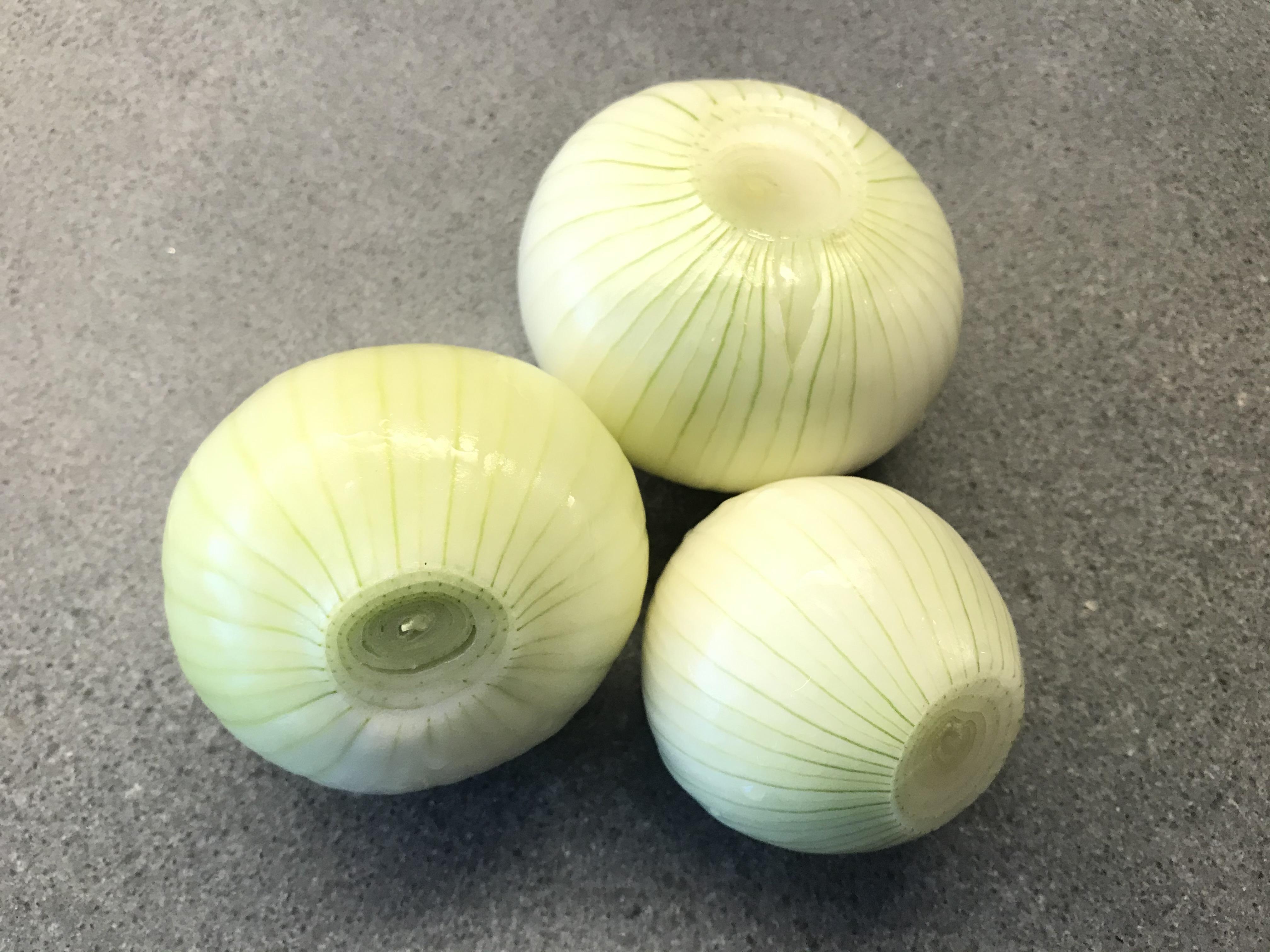 Peeled Fresh White Onions ©cadwu