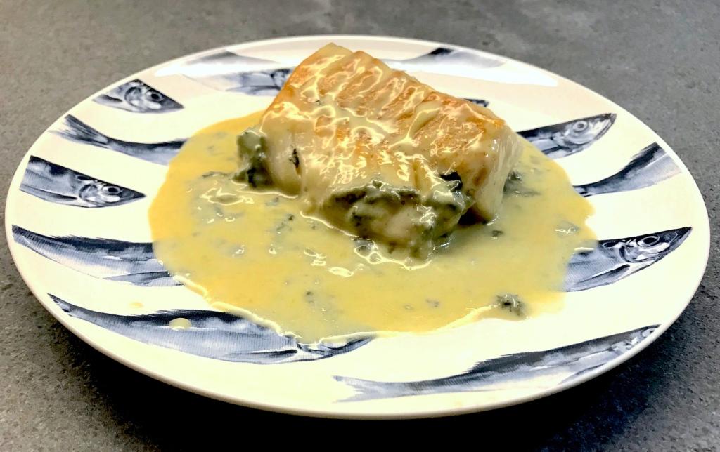 Cod with Bleu d'Auvergne ©cadwu