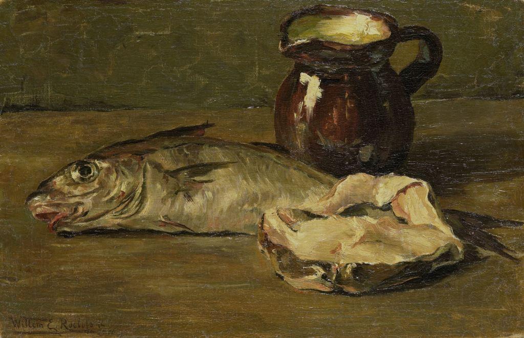 Stilleven met Kabeljauw-Willem Roelofs (II), Rijksmuseum Amsterdam
