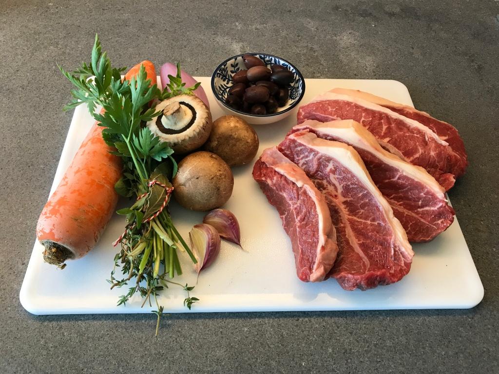 Ingredients of Daube Provençale ©cadwu